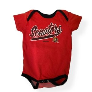 Ottawa Senators Reebok red onesie bodysuit